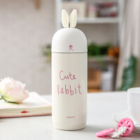兔子保温杯韩国少女水杯可爱软妹学生便携韩版杯子