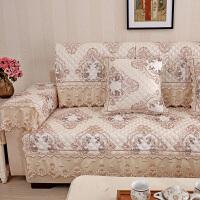 铭聚布艺沙发垫套装防滑沙发坐垫沙发巾简约现代实木皮沙发可用琉璃