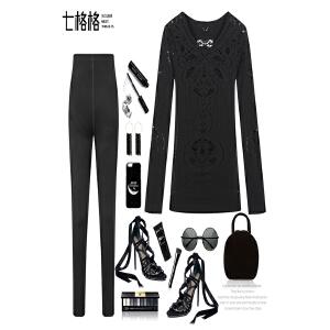【618大促 每满100减50】套装女秋装时尚潮时髦冬季新款韩版气质针织欧洲站打底两件套