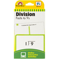 Evan-Moor Learning Line Flashcards Division Facts to 9s 加州教辅