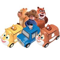 灵动创想熊出没玩具熊大熊二爱兜风汽车男孩光头强熊熊乐园