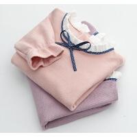 女童针织衫童装春装中大童女孩花边打底衫宝宝儿童上衣