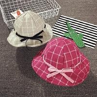 儿童渔夫帽秋冬毛料盆帽婴儿帽子6-个月男女宝宝帽子1岁韩版潮