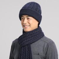 男士冬季羊毛加厚毛线帽中老年帽子爷爷护耳针织保暖帽爸爸老人帽