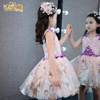 儿童礼服小主持人礼服裙女童晚礼服蓬蓬裙春季公主裙钢琴演出生日