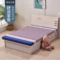 加厚高密度海绵床垫1.5m单双人垫子 0.9m学生宿舍床垫 榻榻米定做j