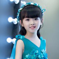 儿童公主裙发饰珍珠花朵发饰女花童皇冠发箍配饰礼服演出头饰