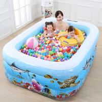 折叠充气儿童游泳池家用池婴儿洗澡玩具大号小孩室内加厚戏水k0o