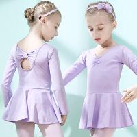 儿童舞蹈服女童练功服秋冬长袖女孩考级服芭蕾舞裙幼儿中国舞服