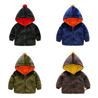 女宝宝衣服秋季1岁3个月女童新生儿加厚连帽外套秋冬装婴儿外出服