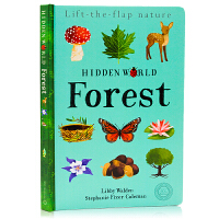 隐藏的世界系列 森林 Hidden World:Forest 英文原版绘本 科普翻翻书 精装 词卡形式认知百科 美育启