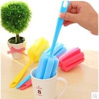 10个装耐用杯子刷清洁刷海绵刷玻璃杯保温杯清洗刷长柄洗杯刷瓶刷
