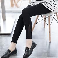 松紧高腰打底裤外穿女春秋薄款九分铅笔裤弹力紧身显瘦小脚八分裤