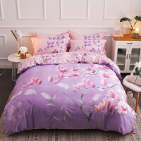 加厚磨毛四件套全棉纯棉欧式床上用品简约1.8m床单网红被套1.5m米 【床单款】2m(6.6英尺)床 已选中
