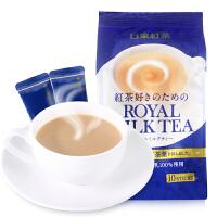 日本进口食品 日东红茶140克皇家奶茶北海道经典原味速溶奶茶包邮袋装