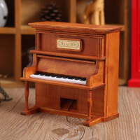 木质立式钢琴音乐八音盒天空之城创意家居摆件女生日礼品闺蜜