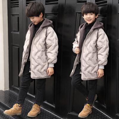 男童棉衣外套中长款儿童冬装棉袄
