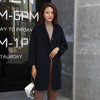新款秋冬100%纯羊毛双面呢羊绒大衣修身韩版时尚保暖风衣外套