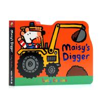 Maisy's Digger 小鼠波波 挖掘机 英文原版绘本 纸板造型 低幼儿童启蒙 纸板书 作者 Lucy Cous