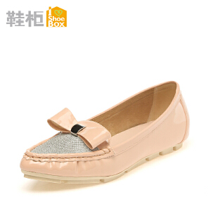 达芙妮旗下SHOEBOX/鞋柜蝴蝶结舒适尖头浅口女鞋