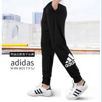 Adidas阿迪达斯男裤 2019秋季新款大LOGO运动舒适透气休闲针织长裤EB5258