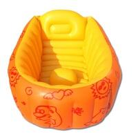 {夏季贱卖}初生婴儿充气浴盆宝宝洗澡盆可折叠新生幼儿BB可坐躺便携洗浴盆