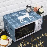 北欧鹿现代简约ins微波炉盖布罩格兰仕美的烤箱巾长方形 35X95cm