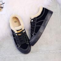 环球棉鞋女冬季保暖加绒韩版2017新款短靴学生休闲鞋平底百搭板鞋