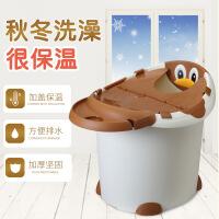 儿童洗澡桶婴儿浴盆 宝宝浴桶 可坐躺小孩用品泡澡沐浴桶大号