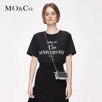 MOCO2019秋季新品15周年字母印花T恤MAI3TEE015 摩安珂
