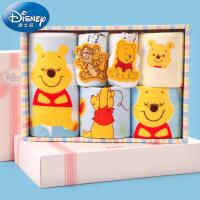 迪士尼Disney儿童毛巾6件套礼盒 纯棉小毛巾 童巾 纱布 A类 卡通