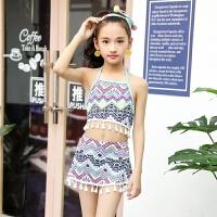韩版女童游泳衣公主比基尼儿童泳装小中大童女宝宝分体裙式学生