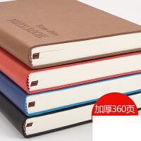 A5加厚本子皮质笔记本文具商务日记本手账本大学生记事本g0l