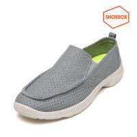 达芙妮旗下shoebox鞋柜男鞋新款时尚休闲男鞋潮低跟圆头套脚布鞋男