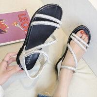 户外罗马女士凉鞋鞋子时尚学生百搭平底坡跟晚晚鞋仙女风