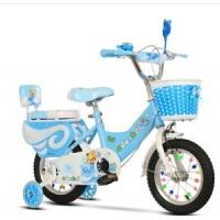 儿童自行车儿童礼品自行车新款14-18寸2岁女宝宝3女孩4小孩5女童6白雪公主款 卡通蓝色闪光辅助轮 护栏 礼品 礼品