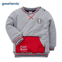 歌瑞家婴儿套头卫衣灰色2017冬装新款中小童男宝宝长袖上衣 乐友