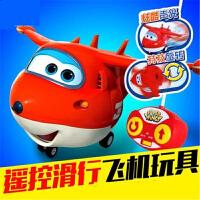 奥迪双钻飞侠遥控滑行飞机乐迪儿童玩具变形机器人小遥控飞机j3t