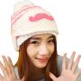慈颜孕妇帽秋冬天保暖口罩胡子帽子加绒加厚女士毛线产妇帽子女CY120