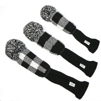 高尔夫球杆木杆套1/3/5号毛线针织