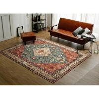 美式复古地毯欧式民族风客厅地毯乡村简约沙发茶几卧室床边毯定制 200x300CM【耐脏耐磨款 可水洗机洗 收藏送