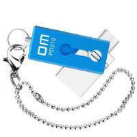 DM PD010 (小贝 )OTG 16G 手机U盘16GB 旋转式USB与MICRO USB双插头 电脑通用(蓝色)