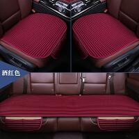 汽车坐垫单片无靠背四季通用亚麻三件套座垫单张后排