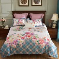 家纺欧式100支全棉印花四件套唯美轻奢田园风床上用品