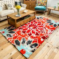 现代欧式复古家用地毯客厅沙发茶几地毯地垫创意3D卧室床边脚垫子