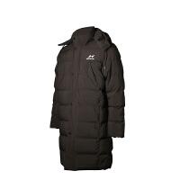 海尔斯9801防风御寒保暖加长带帽棉衣 户外运动长款棉衣 休闲棉衣