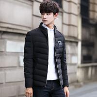 男士羽绒服新款短款轻薄修身款冬季学生韩版帅气加厚冬装外套