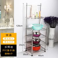 不锈钢脸盆架 浴室厨房卫生间置物架杂物收纳架 落地转角洗脸盆架