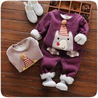 童装女童套装女宝宝秋冬装0-1一3周岁儿童两件套