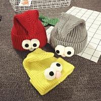 儿童毛线帽冬天保暖针织帽子男女宝宝帽子1-2岁套头帽尖尖婴儿帽